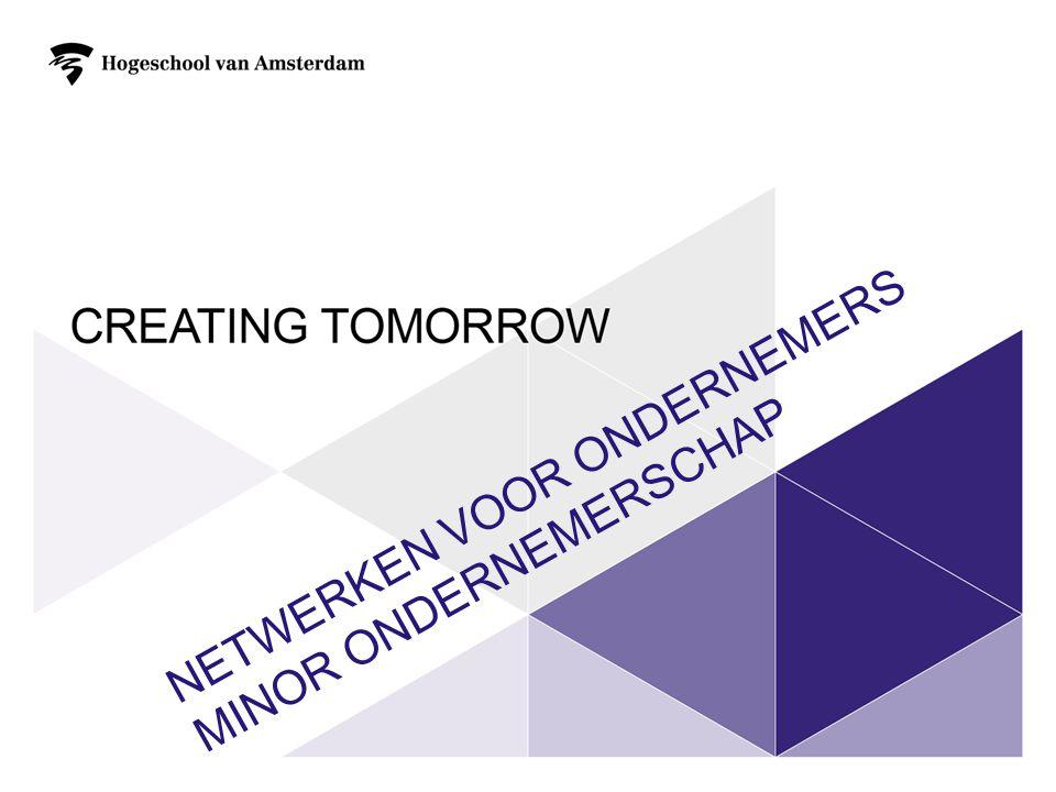Netwerken voor ondernemers Minor ondernemerschap