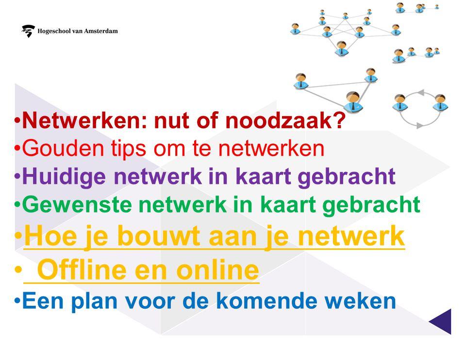 Hoe je bouwt aan je netwerk Offline en online