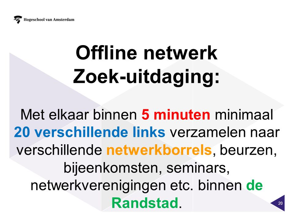 Offline netwerk Zoek-uitdaging: