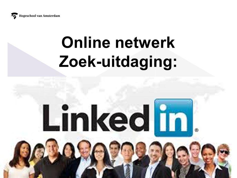 Online netwerk Zoek-uitdaging:
