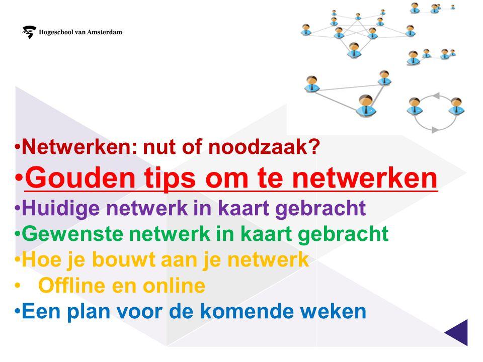 Gouden tips om te netwerken