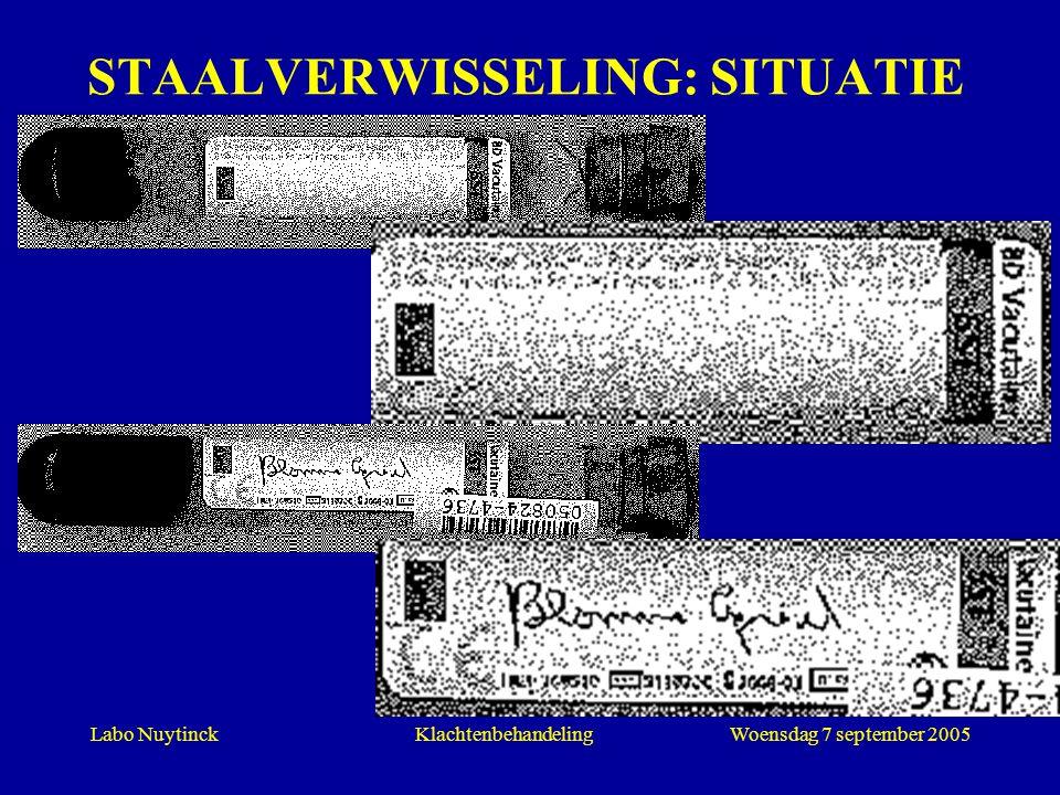 STAALVERWISSELING: SITUATIE