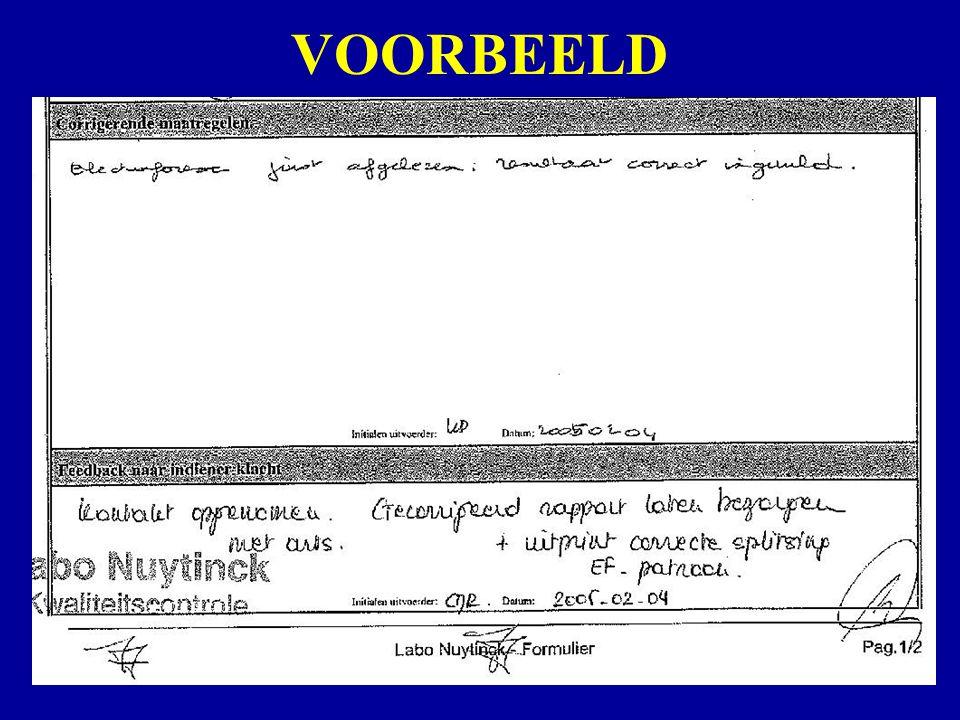 VOORBEELD Klachtenbehandeling Woensdag 7 september 2005