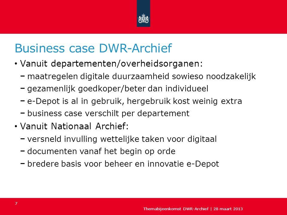 Business case DWR-Archief
