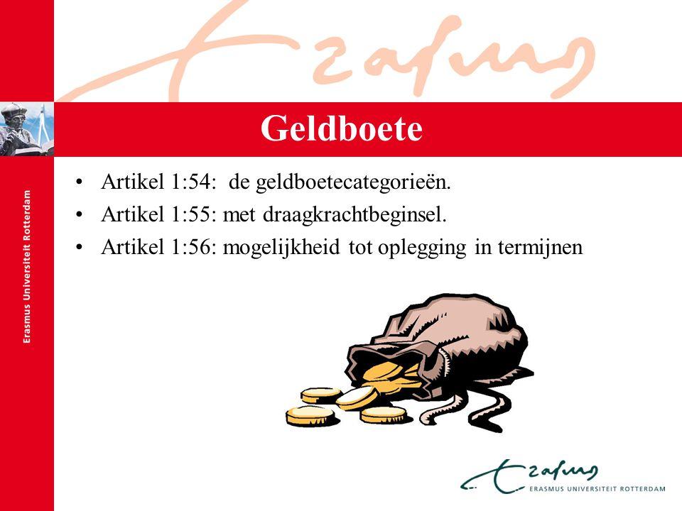 Geldboete Artikel 1:54: de geldboetecategorieën.