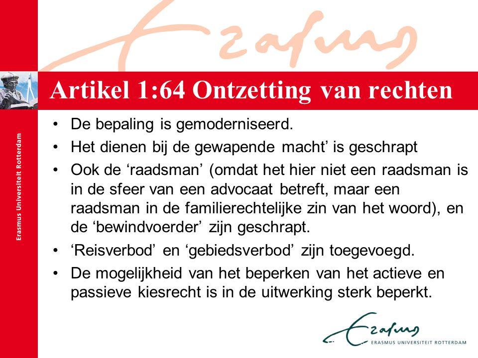 Artikel 1:64 Ontzetting van rechten