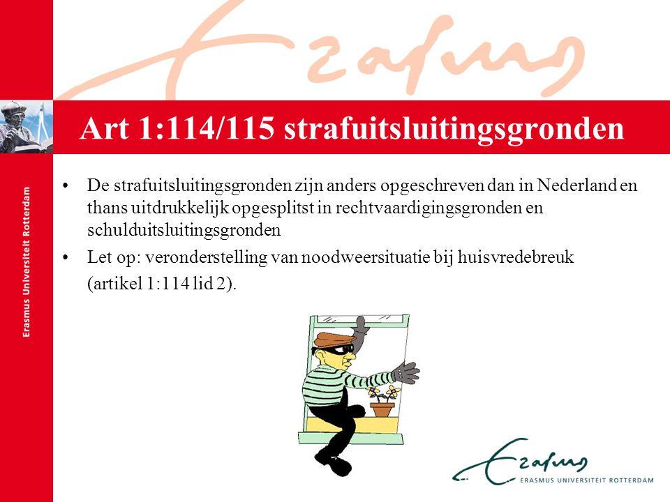 Art 1:114/115 strafuitsluitingsgronden