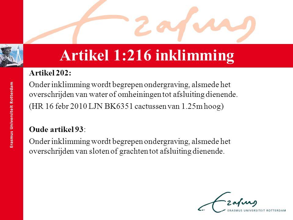 Artikel 1:216 inklimming Artikel 202: