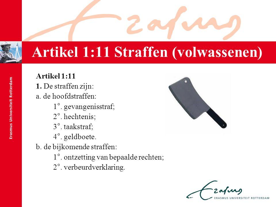 Artikel 1:11 Straffen (volwassenen)