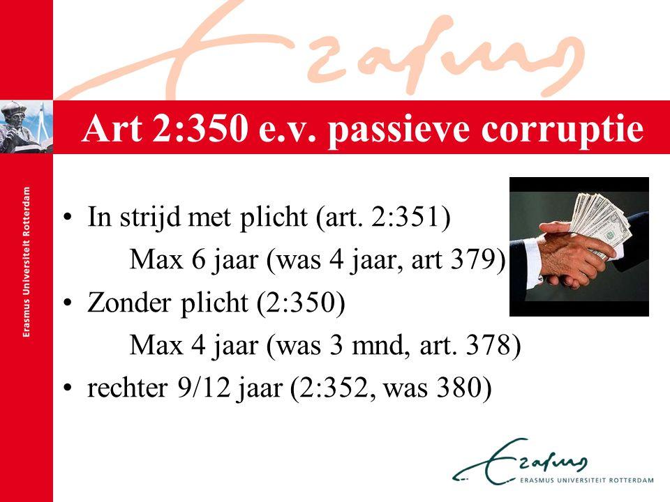 Art 2:350 e.v. passieve corruptie