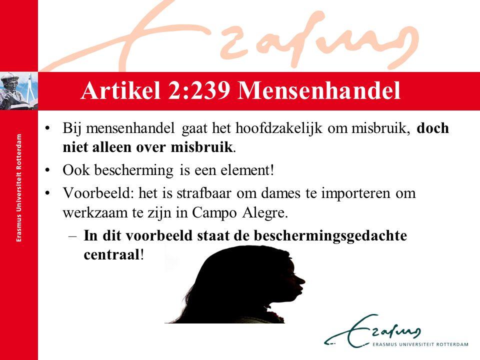 Artikel 2:239 Mensenhandel