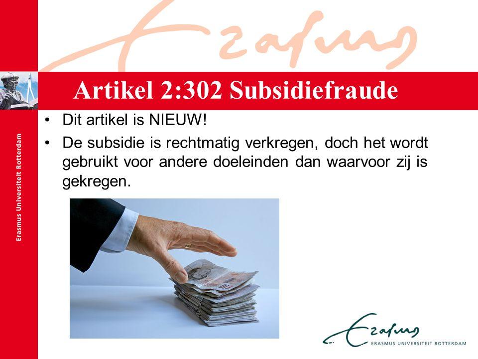 Artikel 2:302 Subsidiefraude