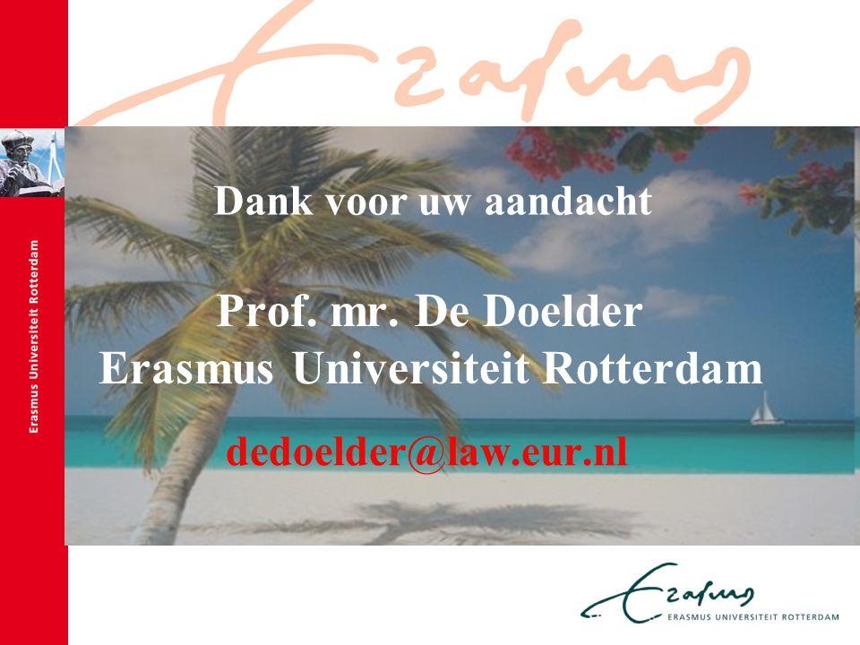 Prof. mr. De Doelder Erasmus Universiteit Rotterdam