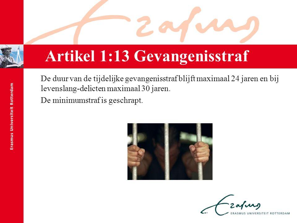 Artikel 1:13 Gevangenisstraf