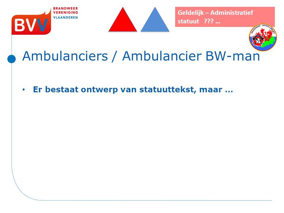 Ambulanciers / Ambulancier BW-man