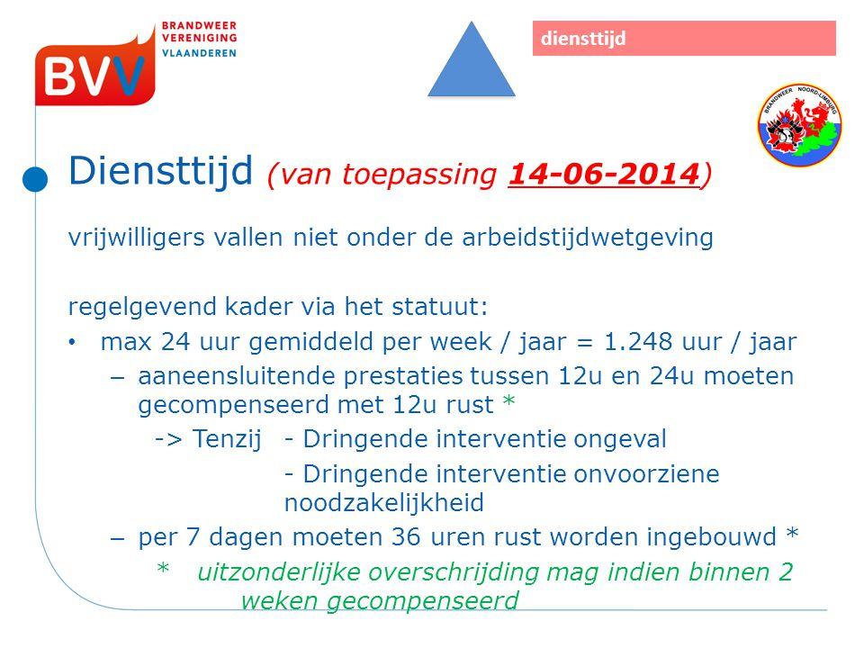Diensttijd (van toepassing 14-06-2014)