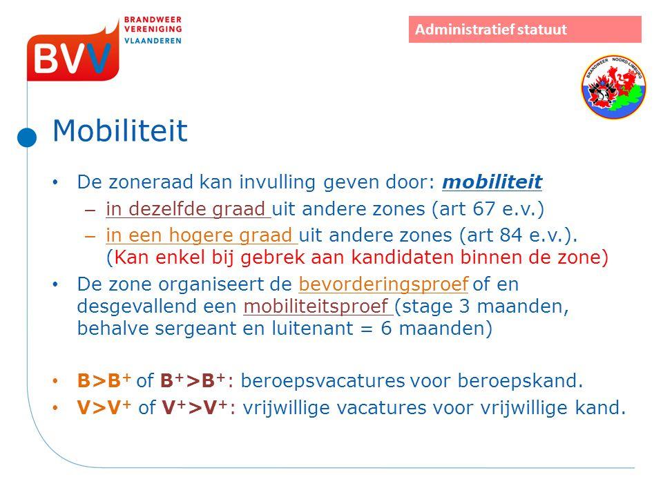 Mobiliteit De zoneraad kan invulling geven door: mobiliteit