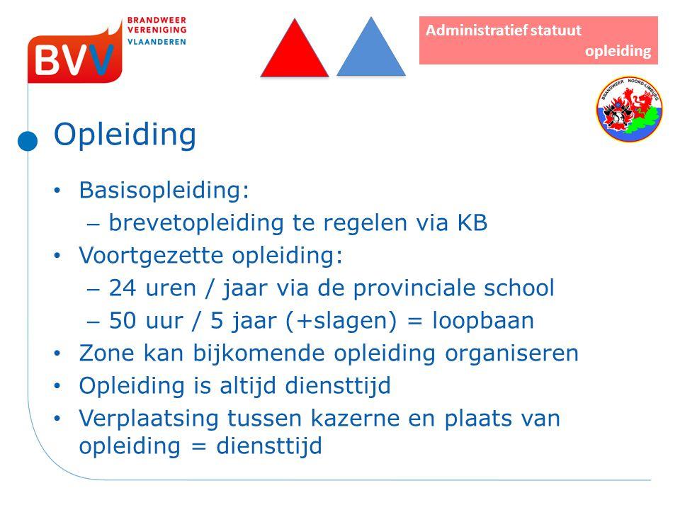 Opleiding Basisopleiding: brevetopleiding te regelen via KB