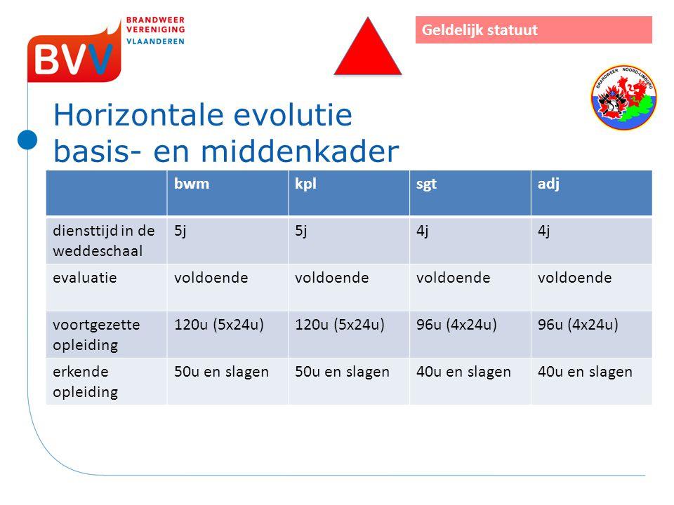Horizontale evolutie basis- en middenkader