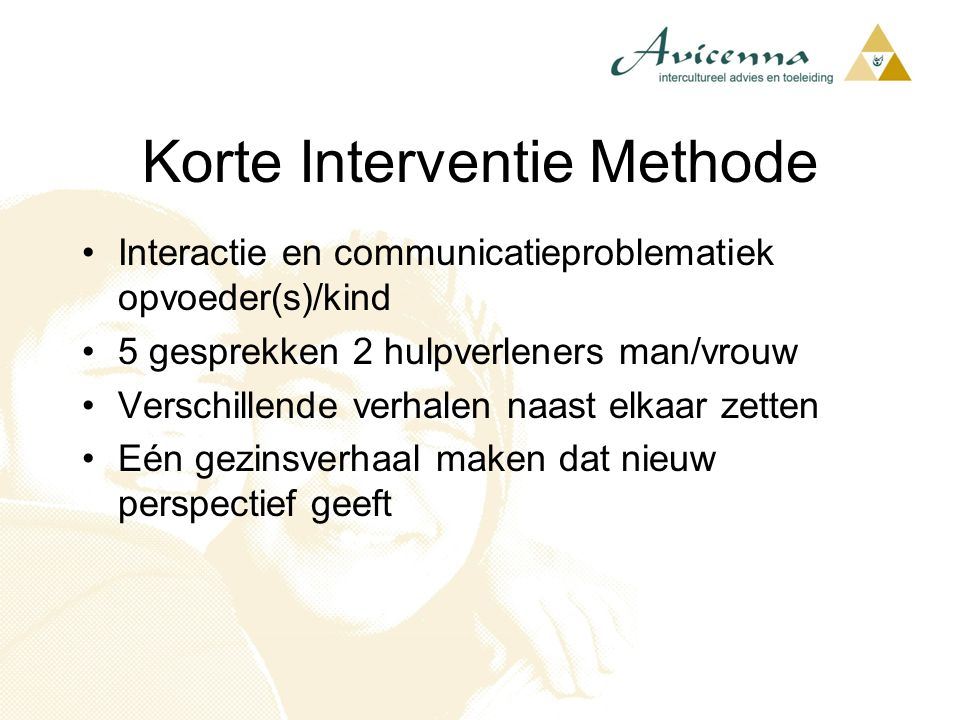 Korte Interventie Methode