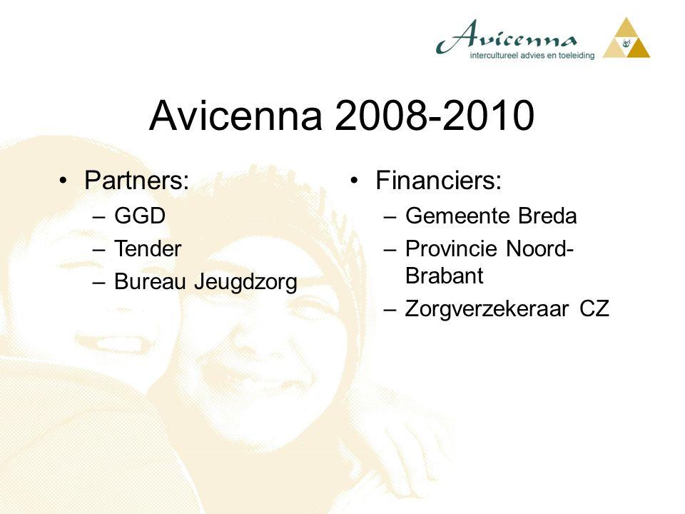 Avicenna 2008-2010 Partners: Financiers: GGD Tender Bureau Jeugdzorg
