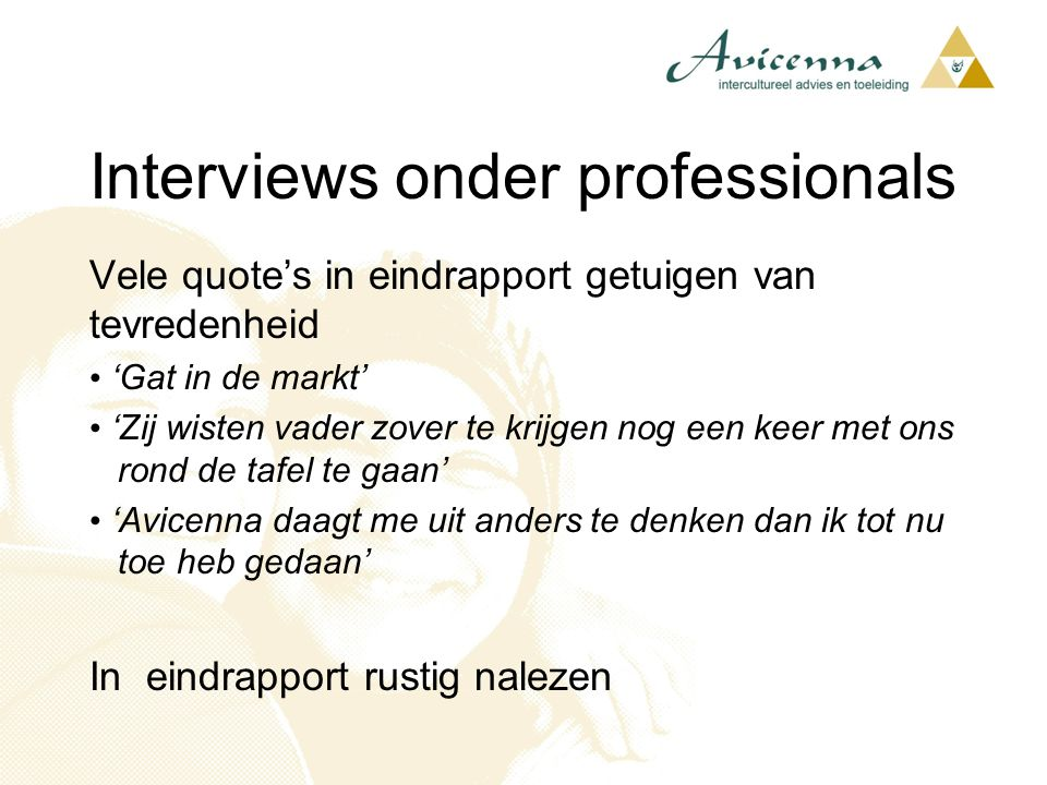 Interviews onder professionals
