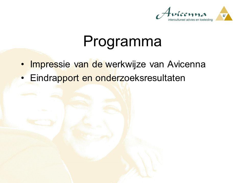 Programma Impressie van de werkwijze van Avicenna