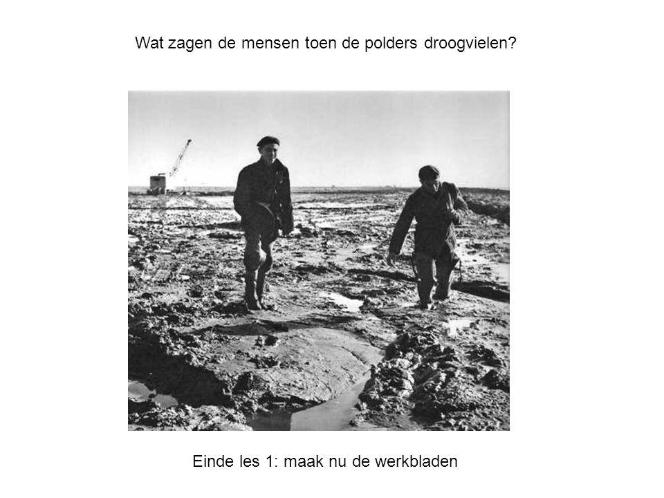 Wat zagen de mensen toen de polders droogvielen