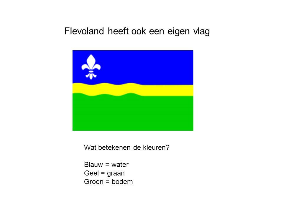 Flevoland heeft ook een eigen vlag