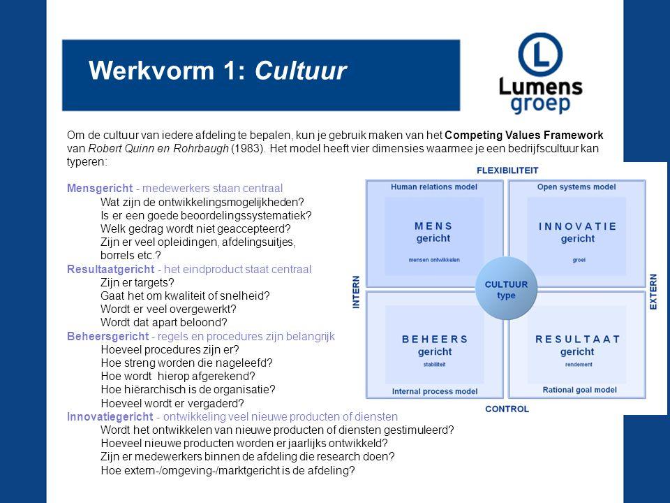 Werkvorm 1: Cultuur