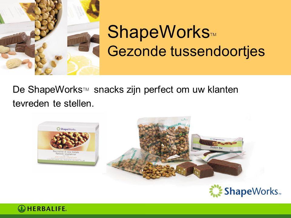 ShapeWorksTM Gezonde tussendoortjes