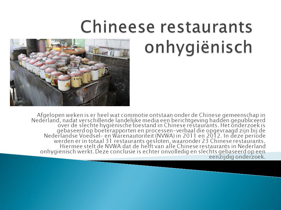 Chineese restaurants onhygiënisch