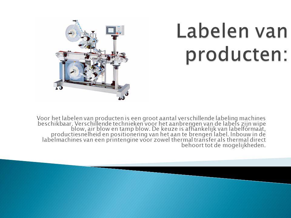 Labelen van producten: