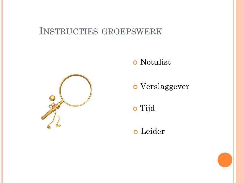 Instructies groepswerk