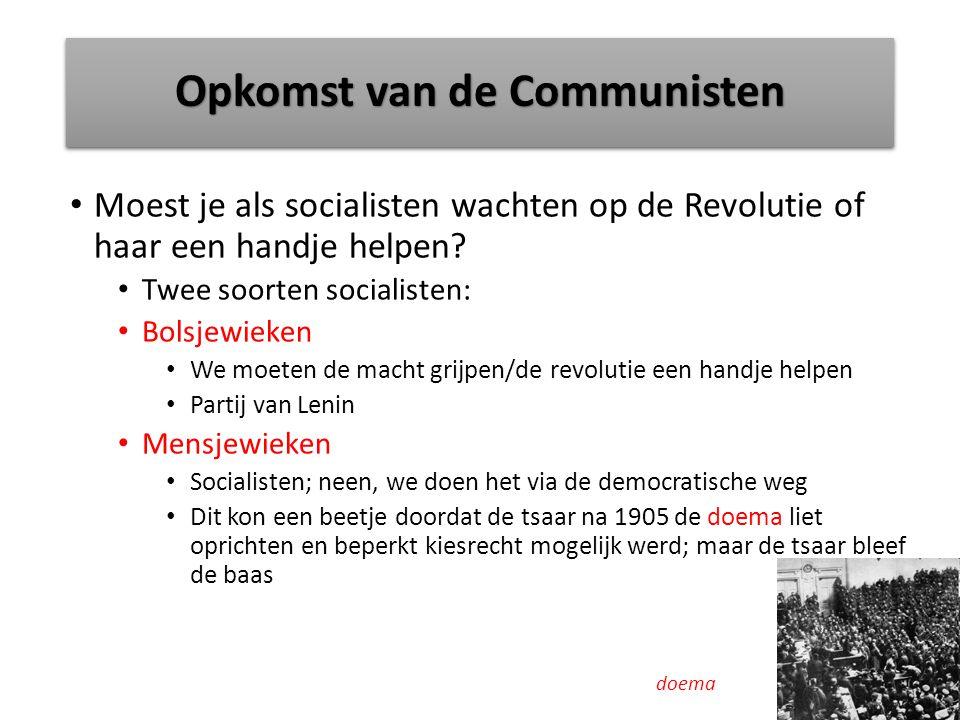 Opkomst van de Communisten