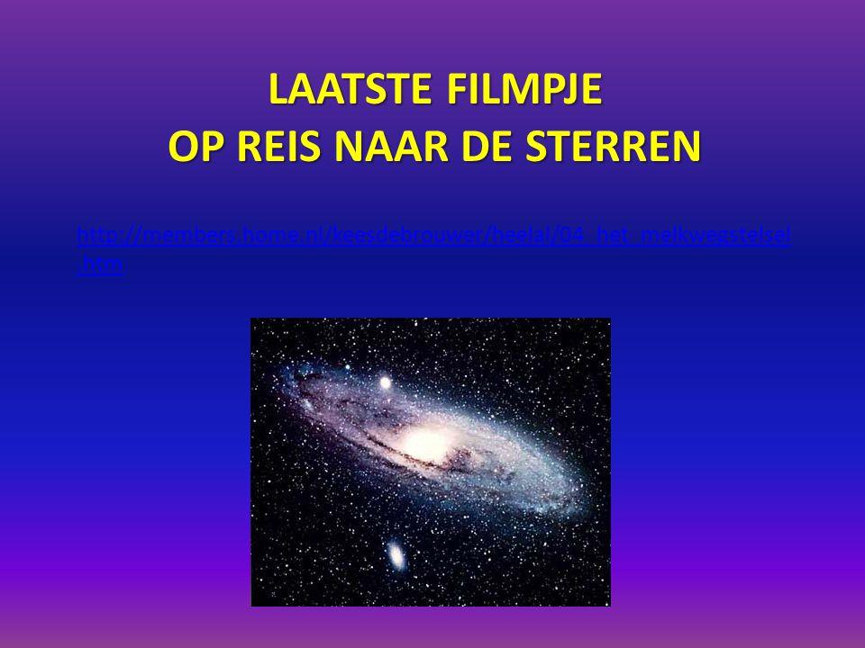 Laatste filmpje Op reis naar de sterren