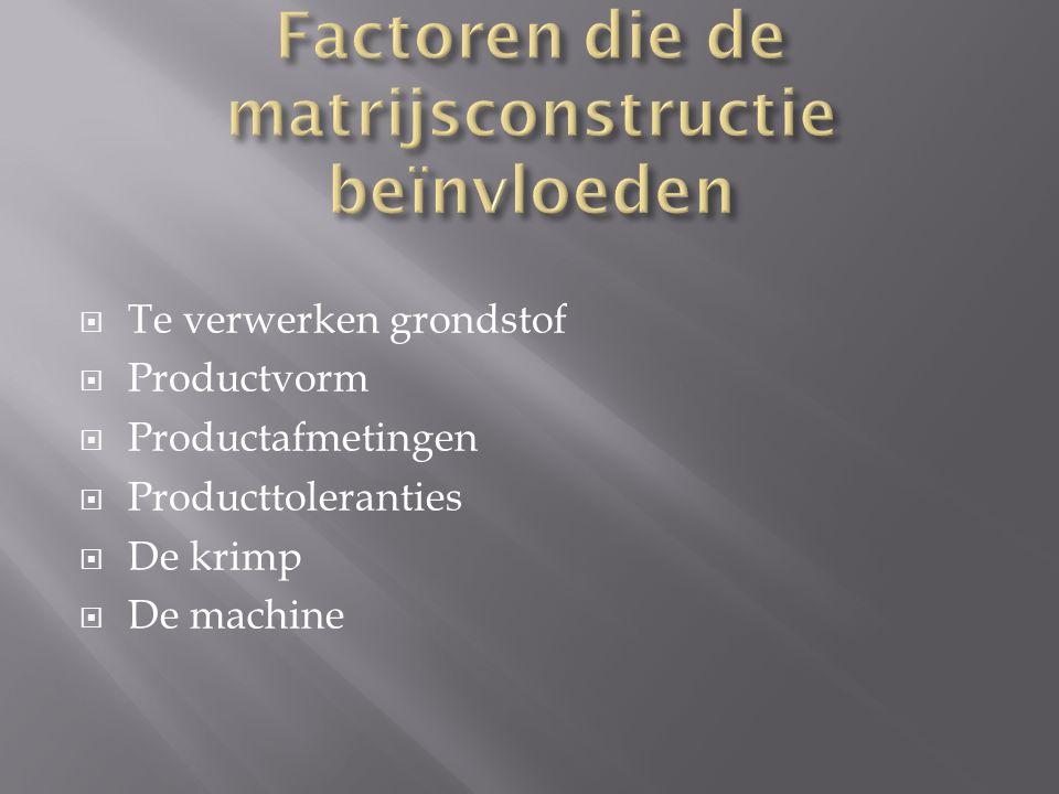 Factoren die de matrijsconstructie beïnvloeden