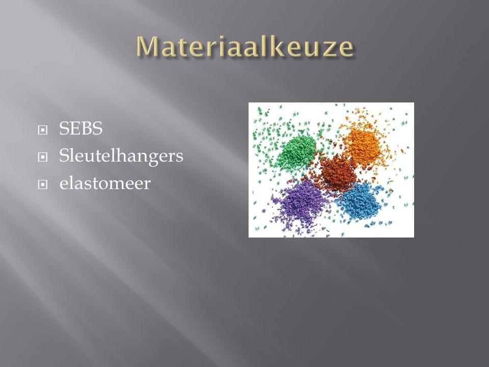 Materiaalkeuze SEBS Sleutelhangers elastomeer