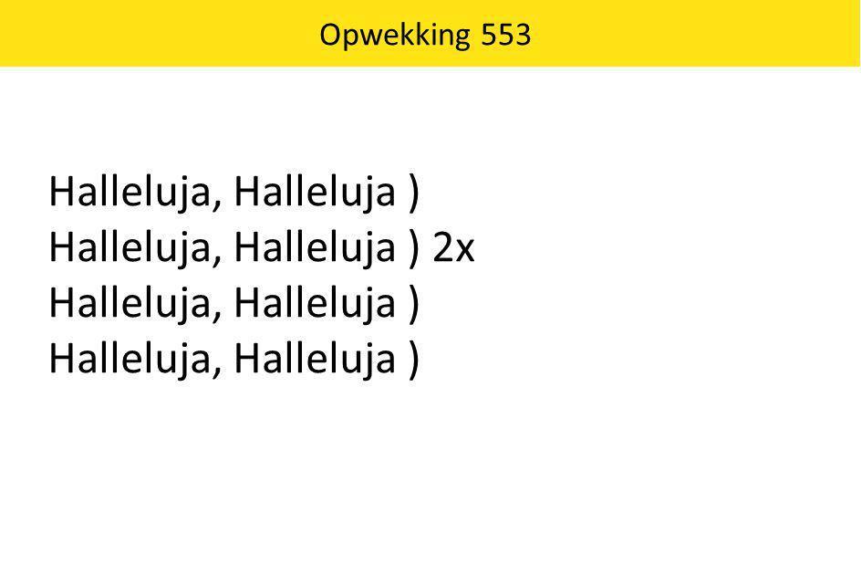 Halleluja, Halleluja ) 2x