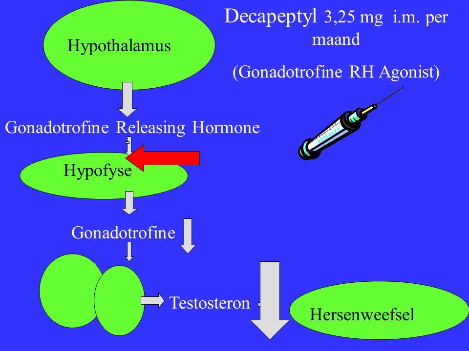 Decapeptyl 3,25 mg i.m. per maand