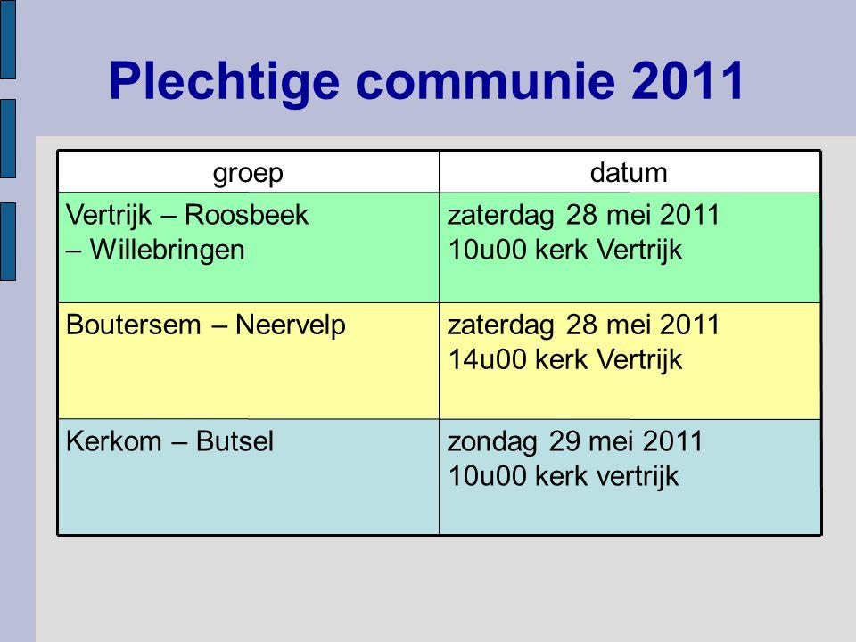 Plechtige communie 2011 zaterdag 28 mei 2011 14u00 kerk Vertrijk