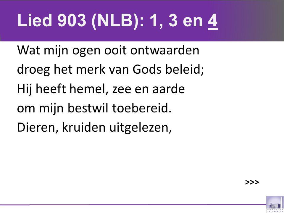 Lied 903 (NLB): 1, 3 en 4