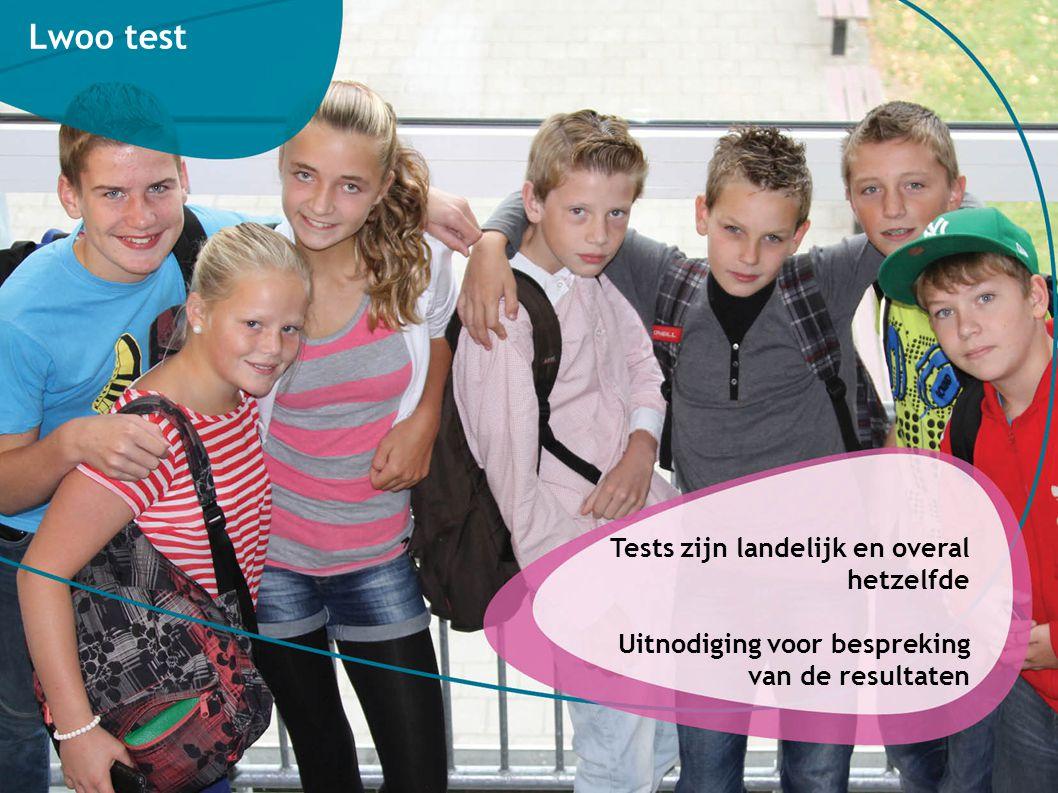 Lwoo test Tests zijn landelijk en overal hetzelfde