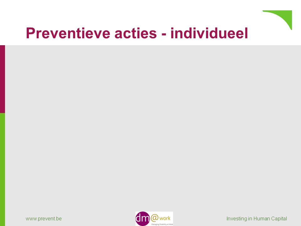 Preventieve acties - individueel