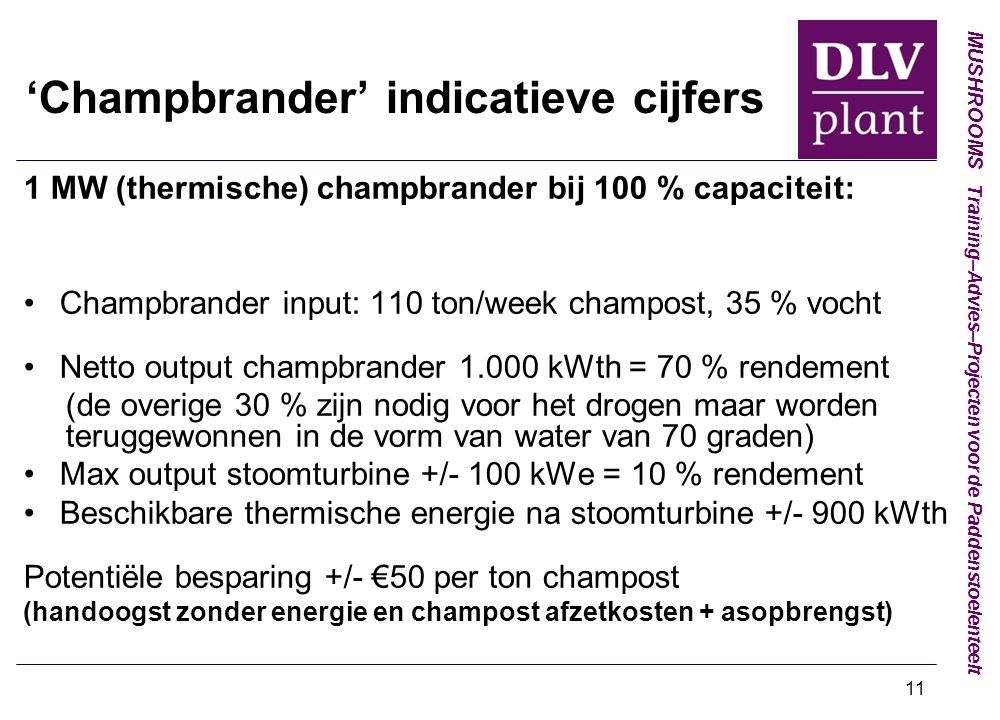 'Champbrander' indicatieve cijfers