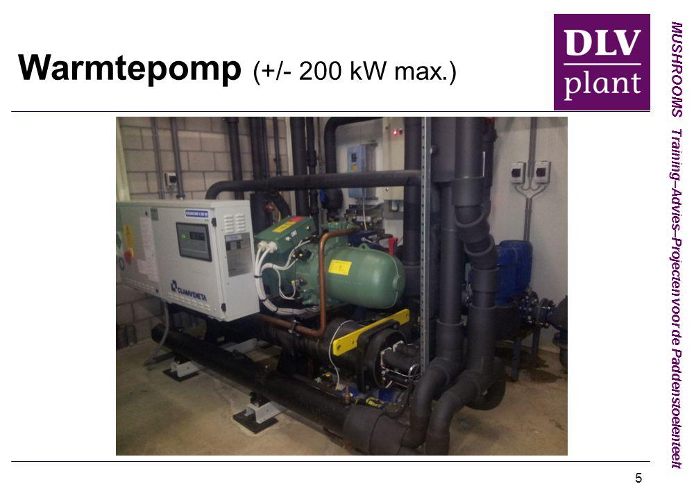 Warmtepomp (+/- 200 kW max.)