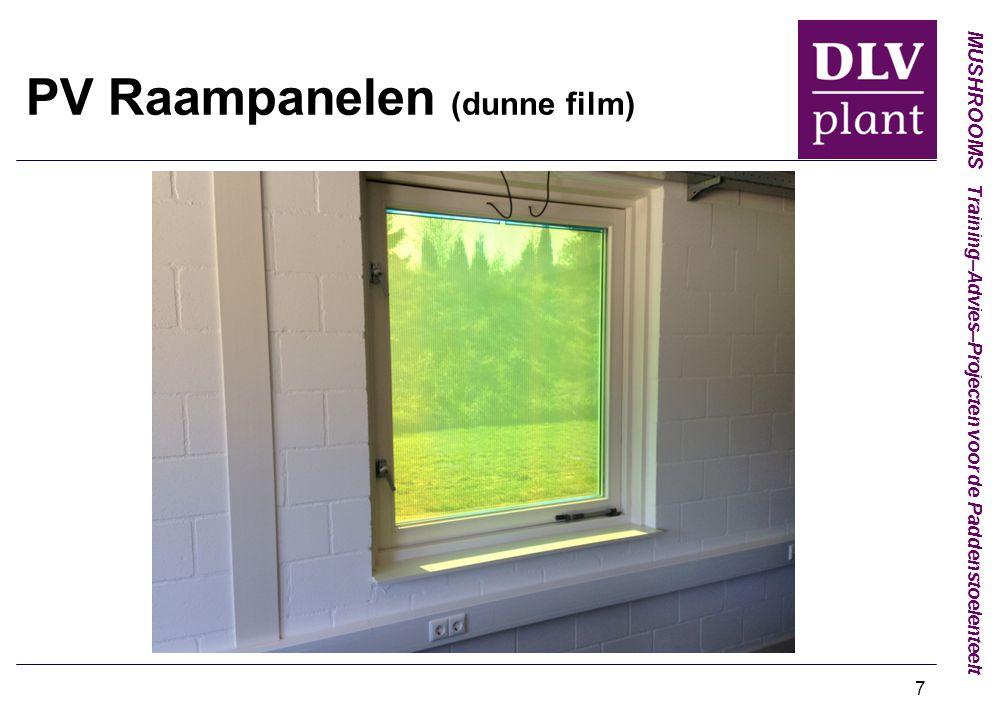 PV Raampanelen (dunne film)