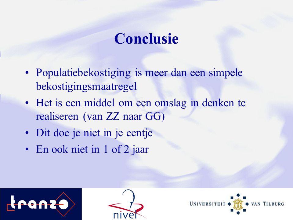 Conclusie Populatiebekostiging is meer dan een simpele bekostigingsmaatregel.