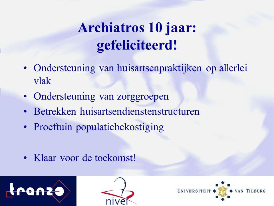 Archiatros 10 jaar: gefeliciteerd!