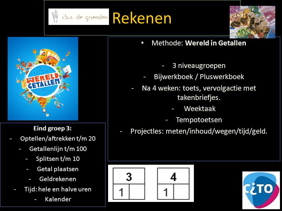 Rekenen Methode: Wereld in Getallen 3 niveaugroepen